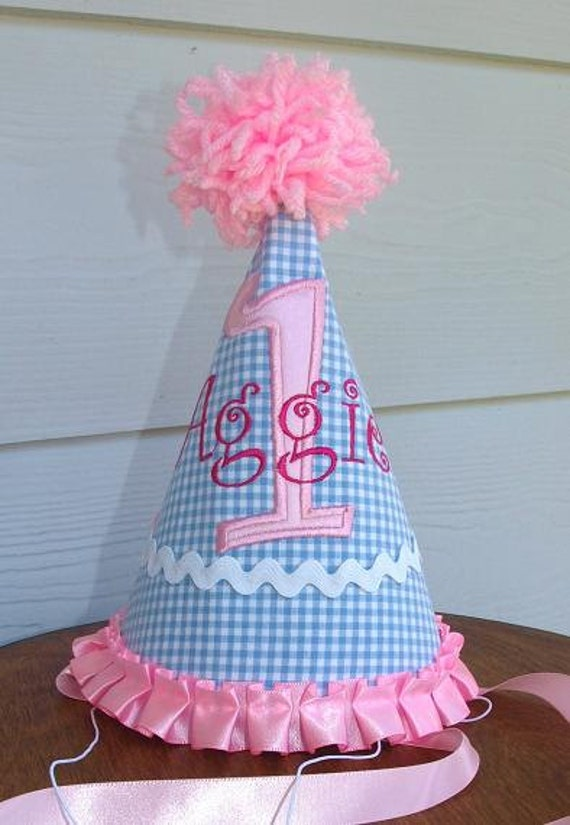 1st Birthday Hat Girls