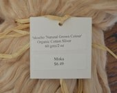 Organic Cotton Sliver Roving 2 0z Natural Grown Color Moka