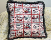 Over The River and Thru The Woods vintage holliday pillow
