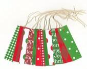 Skinny Tags // Christmas Basics Collection Gift Hang Tags (18) Package Decor