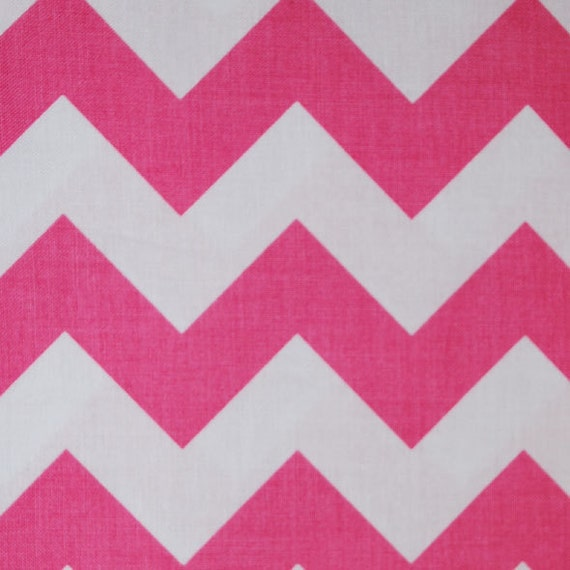 1 Yard of Pink & White Chevron Fabric from Riley Blake
