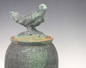 Lidded Jar -  Bird Jar - Cookie Jar