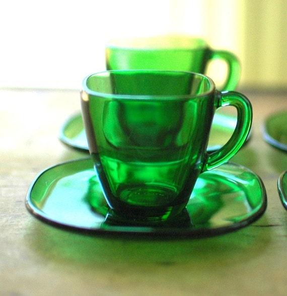 Emerald Green Children's tea set