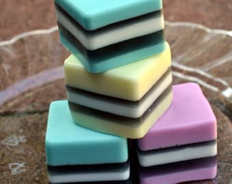 Candy Soap - Classic Licorice Soap Squares - Allsorts Soap - Licorice