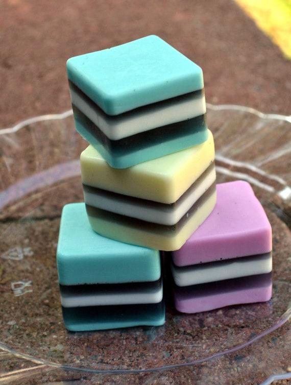 Candy Soap - Classic Licorice Soap Squares - Allsorts Soap - Licorice
