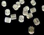 100 pc Clear Plastic Ear Nuts 4x3mm