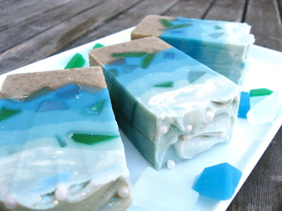 Sea Glass - Handmade Natural Cole Process Coconut Water Soap