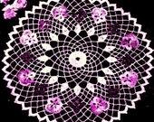 Pansy Circle Doily Crochet Pattern 723111