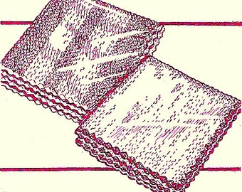 Face or Dish Cloths Knitting Pattern 1949 726023