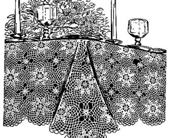 Star Medallion Tablecloth Crochet Pattern 723042