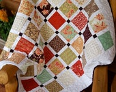 Quilt Early Fall HANDMADE Tapestry Lap Throw