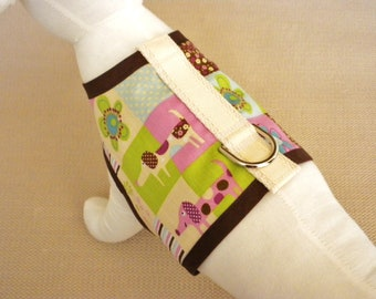 Pretty Puppy Patches Dog Harness Vest
