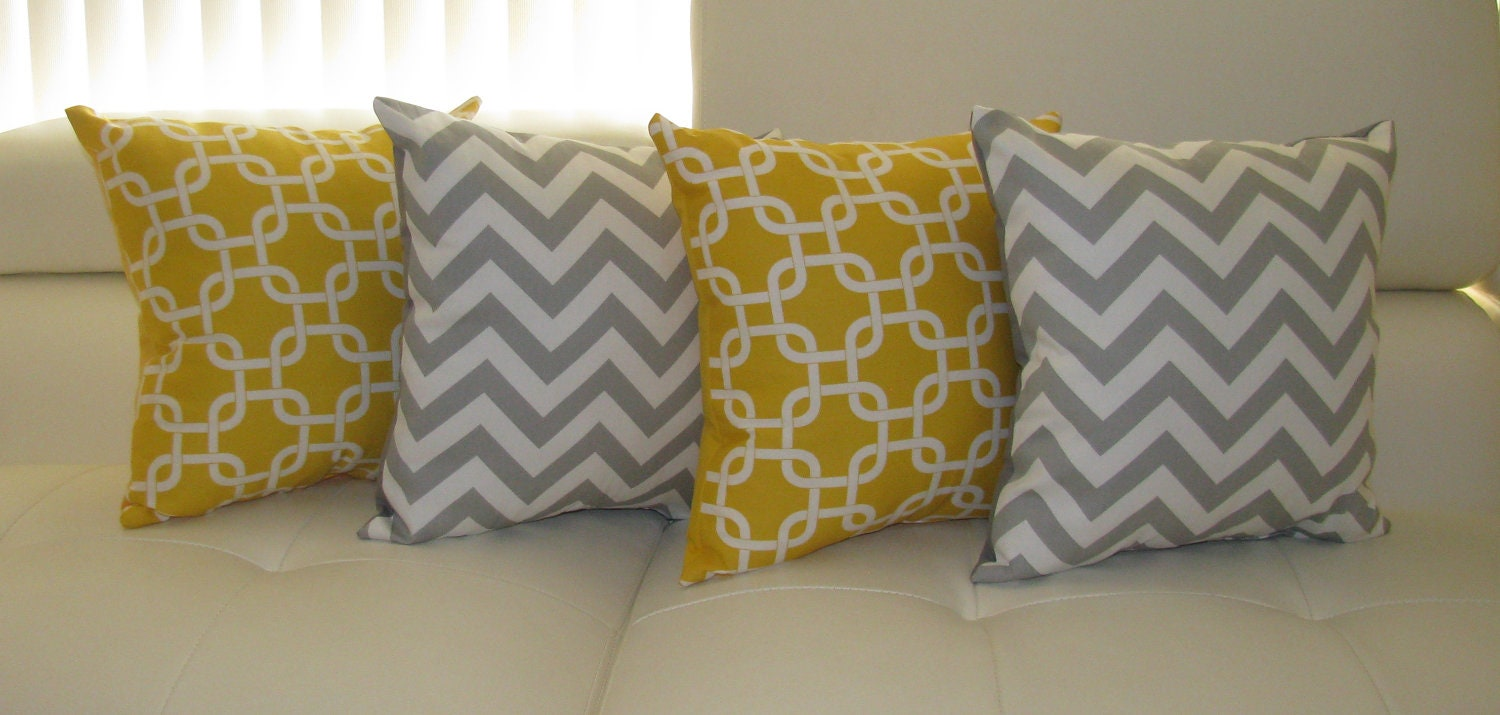 Chevron Throw Pillow Zig Zag Chevron by LandofPillowsDotCom