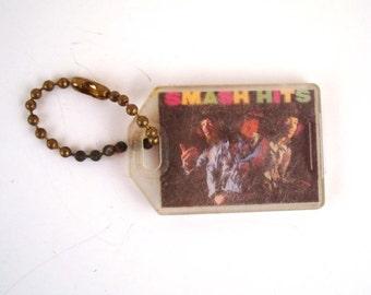 Keychain Vintage 1980s  Jimi Hendrix Experience Smash Hits Plastic Key Chain