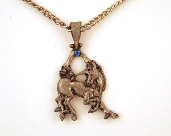 Vintage 1980s Unicorn Necklace