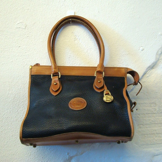 Dooney and Bourke Purse Vintage 1980s Black  and tan Purse