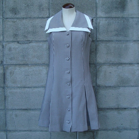 Polyester Dress Vintage 1970s Poly Scooter Burt Stanley