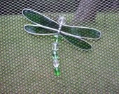 Screen Bling Critters (TM) - Green Dragonfly