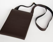 Leather Satchel / Messenger Bag - Dark Chocolate Brown - Hand Stitched - FREE SHIPPING