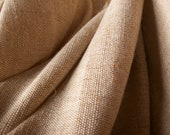 """Jute Cotton blend Fabric -Great texture for Bags, Shoes, Table runners, Pillows, Other rustic decor, accessories, 48""""W.  5 yards"""