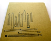 Pencils A5 sized notebook