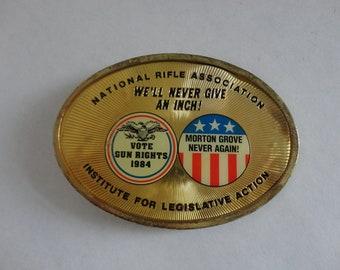 Vintage 1984 NRA national rifle association BELT BUCKLE