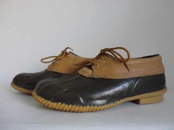 VINTAGE woodstock duck SHOES / booties (steel shank / mens size 11)