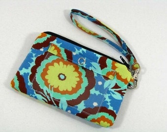 Buttercup small id wristlet - id purse, coin purse , credit card pouch - Soul Blossoms