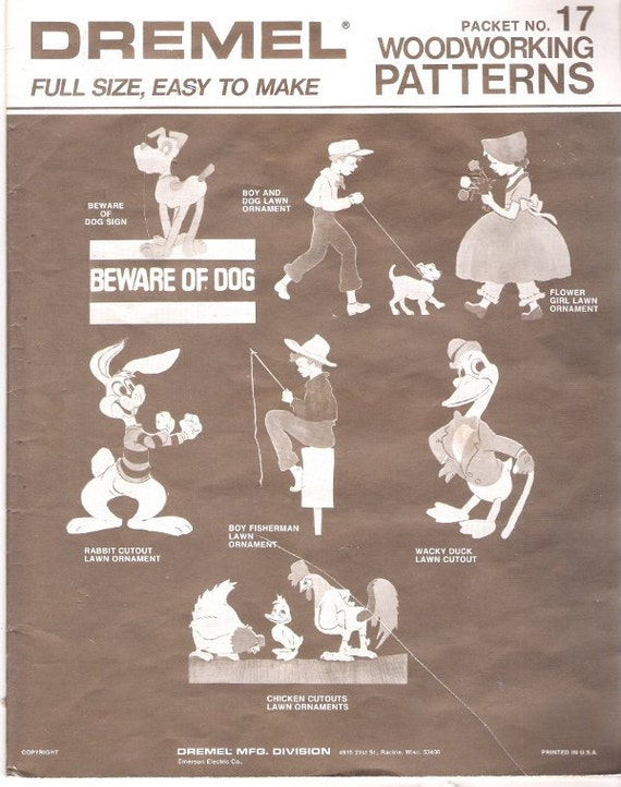 Woodworking patterns full size lawn ornaments dremel by museu2 for Wood lawn ornament patterns