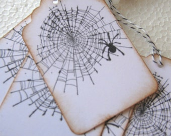Spiderweb Gift Tags, Halloween Gift Tags, Spider Gift Tags