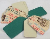 Set of 25 Scalloped Tags - Travelers Theme