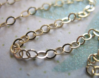 Shop Sale..3 feet, 2.1 mm 14k Gold Filled Chain, Flat Cable Chain, 10-20% less, Necklace jewelry chain, wholesale findings..MMGF..MGF66 solo