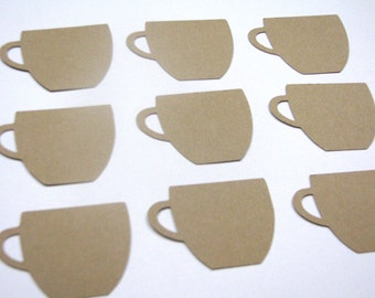 Coffee Cup shaped gift tags set of 20