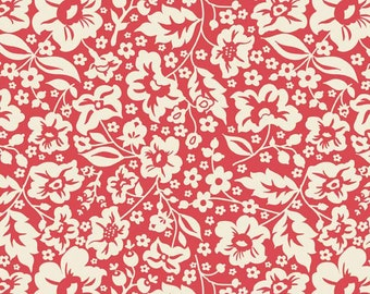 The Sweetest Thing Floral in Red by Riley Blake - 2 Yards reserved for groundhog615