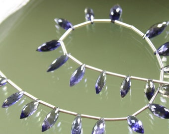 AA - AAA Iolite Faceted Rice Briolettes