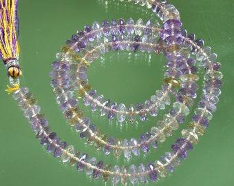 AAA Ametrine German Cut Rondelle Disc Beads 8mm