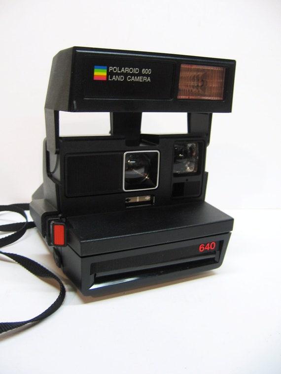 Vintage 1980 Polaroid Land Camera - Carrying Strap - Box - Instruction Booklet - Film Still Available