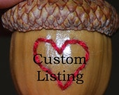 RESERVED for Lisa - Wooden Travel Mug Plus Another Custom Mug with Handle