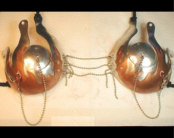 Metal Bra 40.100 with copper flames and removable nipple covers