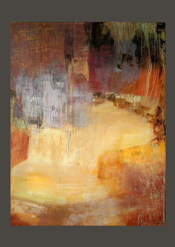 Original LARGE Abstract Painting Modern Contemporary Fine Art Modern Moves by Linda Haywood Deep Profile Canvas