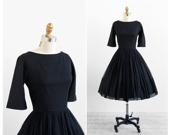 Vintage 1960s Dress Audrey Hepburn Dress Little Black