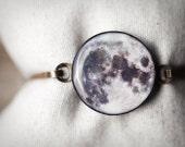 Full Moon bracelet - Moon jewelry - Bangle bracelet - Space Jewelry  (BT021)