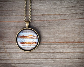 Jupiter Necklace, Clothing gift for women, Planet necklace, Solar system jewelry, Space jewelry, Planet jupiter jewelry, Scientist gift
