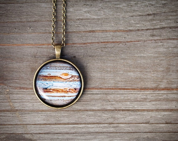 Jupiter Necklace - Space Jewelry - Solar System jewelry - Planet necklace (N092)