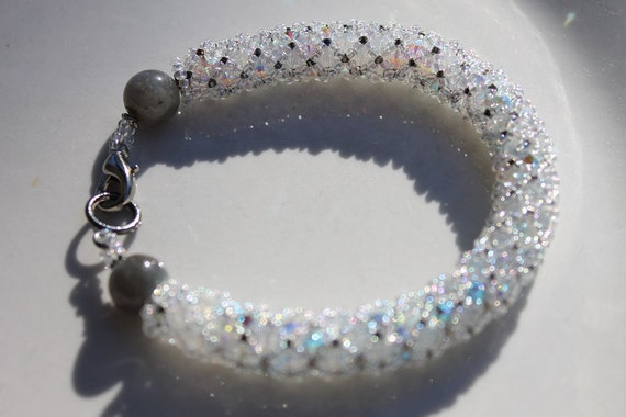 For cm - if you are not CM please do not purchase - Close Out  - Crystal Dreams II -  Crystal AB Beadwoven Netted Bracelet