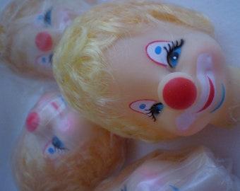 Vintage Doll Clown Lady Head