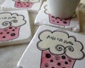 Cupcake Coasters - Drink Coasters - Decorative Tiles - Sweet Gift