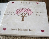 Personalized Family Heart Tree Trivet - Family Keepsake Gift