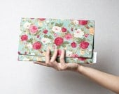 Vintage inspired summer clutch ( purse ) - 20 % off