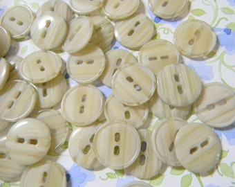 Neat Neutral  Buttons - Multitonal Beige, Taupe, Ivory Plastic Buttons Set - New Old Stock - Excellent Condition - New Vintage Stock
